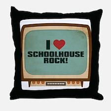 Retro I Heart Schoolhouse Rock! Throw Pillow