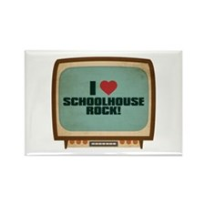 Retro I Heart Schoolhouse Rock! Rectangle Magnet