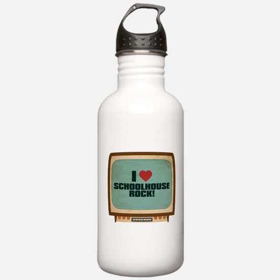 Retro I Heart Schoolhouse Rock! Sports Water Bottle