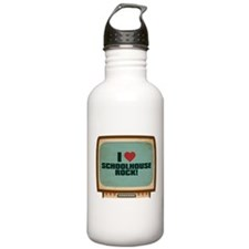 Retro I Heart Schoolhouse Rock! Water Bottle