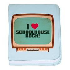 Retro I Heart Schoolhouse Rock! Infant Blanket
