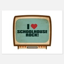 Retro I Heart Schoolhouse Rock! Invitations