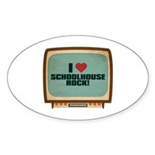 Retro I Heart Schoolhouse Rock! Oval Decal