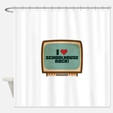 Retro I Heart Schoolhouse Rock! Shower Curtain