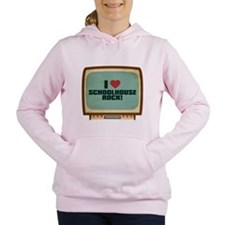 Retro I Heart Schoolhouse Rock! Women's Hooded Swe