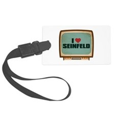 Retro I Heart Seinfeld Luggage Tag