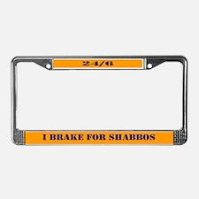 TALMUDIC TEE-CHINGS SHABBAT License Plate Frame