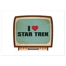Retro I Heart Star Trek Invitations