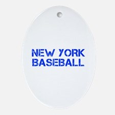 NEW YORK baseball-cap blue Ornament (Oval)