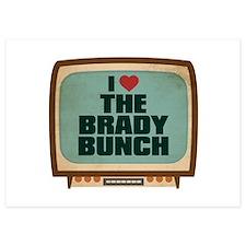 Retro I Heart The Brady Bunch Invitations