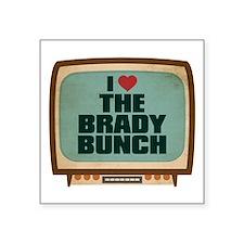 "Retro I Heart The Brady Bunch Square Sticker 3"" x"