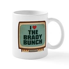 Retro I Heart The Brady Bunch Small Mug
