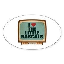 Retro I Heart The Little Rascals Oval Decal