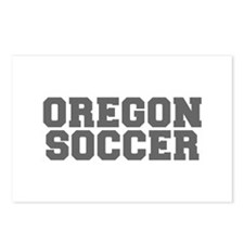 OREGON soccer-fresh gray Postcards (Package of 8)