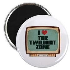 "Retro I Heart The Twilight Zone 2.25"" Magnet (10 p"