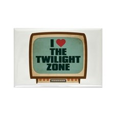 Retro I Heart The Twilight Zone Rectangle Magnet