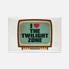 Retro I Heart The Twilight Zone Rectangle Magnet