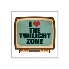 Retro I Heart The Twilight Zone Square Sticker 3""