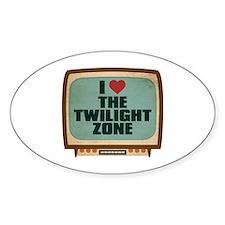 Retro I Heart The Twilight Zone Oval Decal