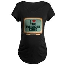 Retro I Heart The Twilight Zone Dark Maternity T-S
