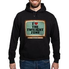 Retro I Heart The Twilight Zone Dark Hoodie