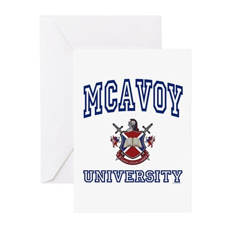 MCAVOY University Greeting Cards (Pk of 10)