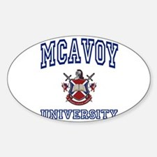 MCAVOY University Oval Decal