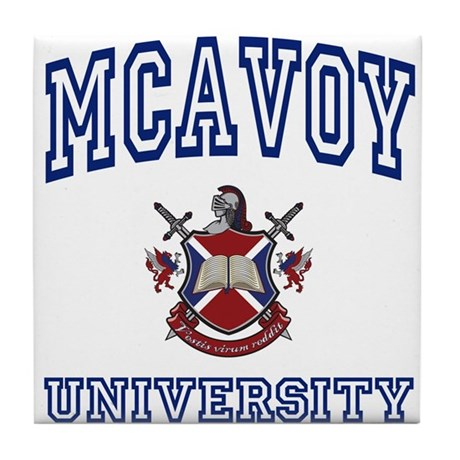 MCAVOY University Tile Coaster