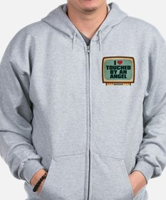 Retro I Heart Touched by an Angel Zip Hoodie