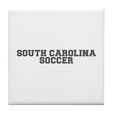 SOUTH CAROLINA soccer-fresh gray Tile Coaster