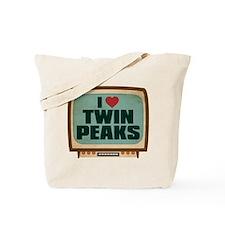 Retro I Heart Twin Peaks Tote Bag