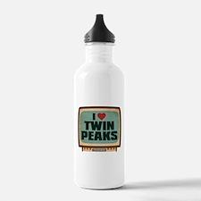 Retro I Heart Twin Peaks Water Bottle