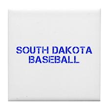 SOUTH DAKOTA baseball-cap blue Tile Coaster