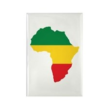 Green, Gold and Red Africa Flag Magnets