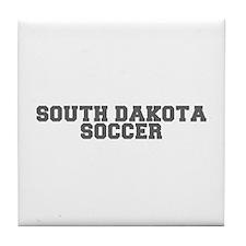 SOUTH DAKOTA soccer-fresh gray Tile Coaster