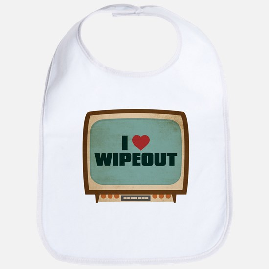 Retro I Heart Wipeout Bib