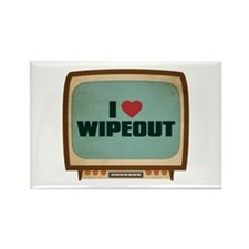 Retro I Heart Wipeout Rectangle Magnet