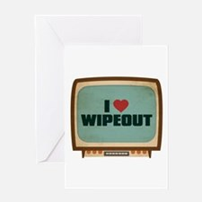 Retro I Heart Wipeout Greeting Card