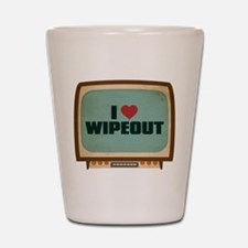 Retro I Heart Wipeout Shot Glass