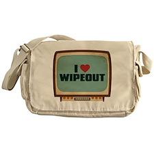 Retro I Heart Wipeout Canvas Messenger Bag