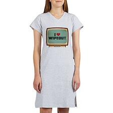 Retro I Heart Wipeout Women's Nightshirt