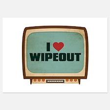 Retro I Heart Wipeout Invitations