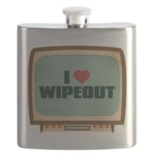 Retro I Heart Wipeout Flask