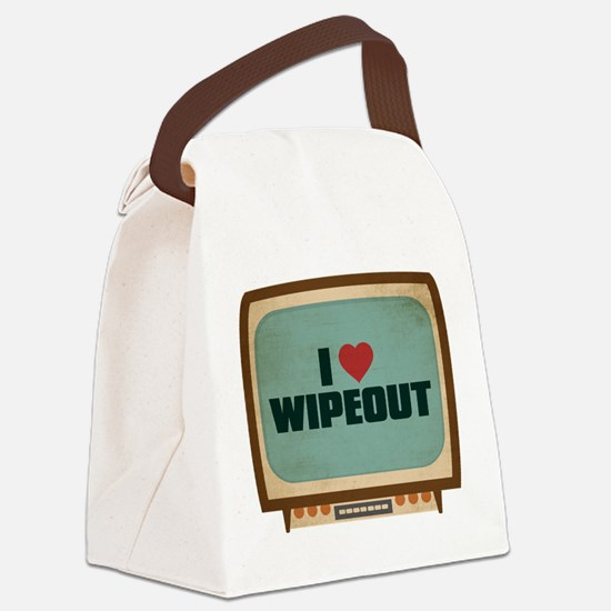 Retro I Heart Wipeout Canvas Lunch Bag