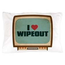 Retro I Heart Wipeout Pillow Case