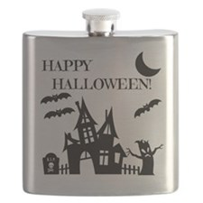 Halloween Haunted House Flask