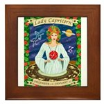 Lady Capricorn Framed Tile