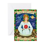 Lady Capricorn Greeting Cards (Pk of 10)