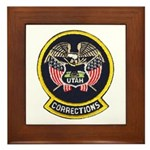 Utah Corrections Framed Tile