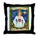 Lady Capricorn Throw Pillow